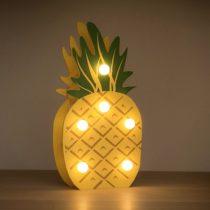 Drevený dekoračný ananás s LED žiarovkami