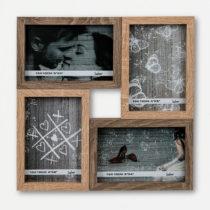 Drevený fotorámček (4 fotografie)