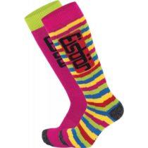 Eisbär COMFORT 2 PACK ASS JR ružová 27-30 - Juniorské  lyžiarske ponožky