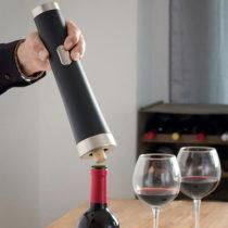 Elektrický otvárač na víno s nožíkom na fólie