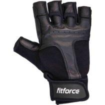 Fitforce BURIAL čierna S - Fitness rukavice