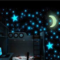 Fosfórový mesiac a hviezdy (15 kusov)