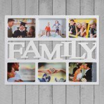 Fotorámček Family - biely (6 fotografií)