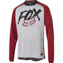 Fox RANGER DR LS JRSY YT šedá M - Detský cyklistický dres