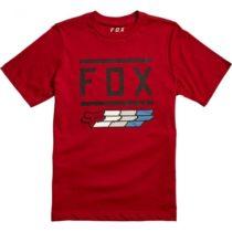 Fox YOUTH SUPER FOX SS TE CRD vínová XL - Detské tričko