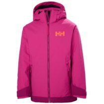 Helly Hansen JR HILLSIDE JACKET ružová 12 - Detská lyžiarska bunda