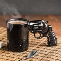 Hrnček revolver - čierny