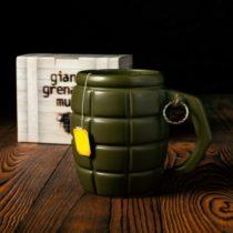Veľký hrnček v tvare granátu - zelený