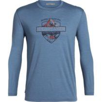 Icebreaker SPECTOR LS CREWE ALPINE CREST modrá M - Pánske tričko