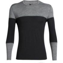 Icebreaker OASIS DELUXE LS CREWE čierna XL - Funkčné tričko z Merina s dlhým rukávom