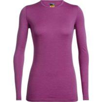 Icebreaker OASIS LS CREWE ružová M - Dámske funkčné tričko z Merina