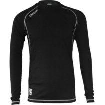 Kappa 4SKIN FUNCTIONAL TOP YTH čierna 116 - Dámske funkčné termo tričko