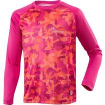 Klimatex ELISEO vínová 146 - Detské funkčné bežecké tričko so sublimačnou potlačou