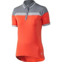 Klimatex LUA oranžová M - Dámska cyklistická polokošeľa
