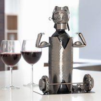 Kovový stojan na víno vzpierač