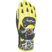 Level DARK JR žltá 6 - Detské lyžiarske rukavice