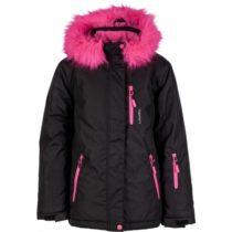 Lewro DARLEEN čierna 140-146 - Dievčenská snowboardová bunda