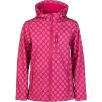 Lewro DONA ružová 116-122 - Dievčenská softshellová bunda