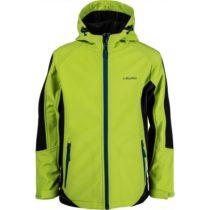 Lewro NIGEL zelená 128-134 - Detská softshellová bunda