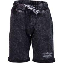 Lewro RAYEN čierna 152-158 - Detské šortky s džínsovým vzhľadom