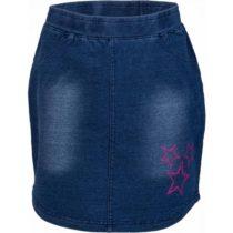 Lewro UMINA tmavo modrá 140-146 - Dievčenská sukňa s džínsovým vzhľadom
