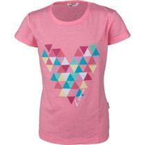 Lewro MINDY ružová 140-146 - Dievčenské tričko s krátkym rukávom