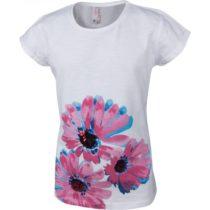 Lewro OLIVIE biela 140-146 - Dievčenské tričko s krátkym rukávom