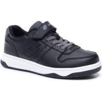 Lotto BASKETLOW CL SL čierna 27 - Juniorská voľnočasová obuv