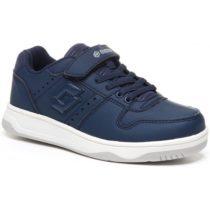 Lotto BASKETLOW NU CL SL tmavo modrá 28 - Chlapčenská voľnočasová obuv