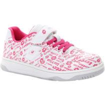 Lotto BASKETLOW AMF II LOGO CL SL biela 30 - Dievčenská obuv na voľný čas