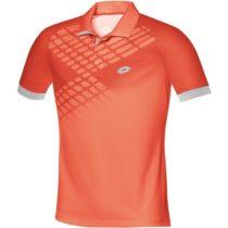 Lotto POLO CONNOR NET oranžová XL - Pánske tenisové polo tričko