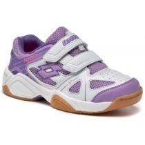 Lotto JUMPER V CL S fialová 33 - Detská halová obuv