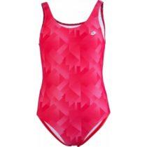 Lotto AZURA ružová 140-146 - Dievčenské jednodielne plavky