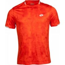 Lotto TOP TEN TEE PRT PL oranžová XL - Pánske tenisové tričko