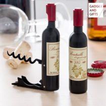 Magnetická vývrtka fľaša vína