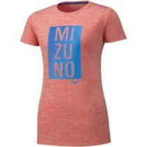 Mizuno IMPULSE CORE GRAPHIC TEE oranžová L - Dámske bežecké tričko
