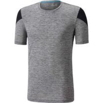 Mizuno ALPHA TEE šedá L - Pánske bežecké tričko s krátkym rukávom