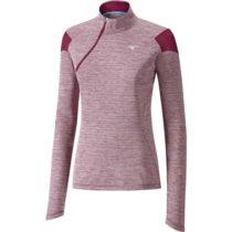 Mizuno ALPHA LS HZ W červená L - Dámske bežecké tričko s dlhým rukávom