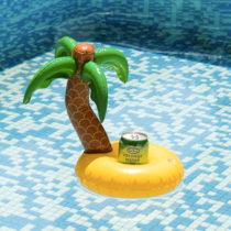 Nafukovací držiak na plechovky ostrov s palmou