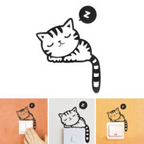 Nálepka na vypínač mačiatko