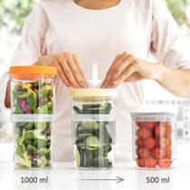 Nastaviteľné nádoby do kuchyne (3 kusy)