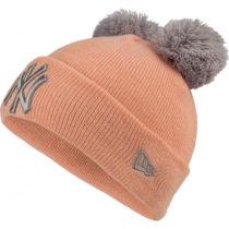 New Era MLB DOUBLE POM KNIT CUFF KIDS NEW YORK YANKEES oranžová YOUTH - Dievčenská zimná čiapka