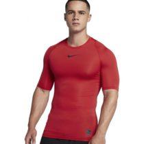 Nike NP TOP SS COMP červená S - Pánske tričko