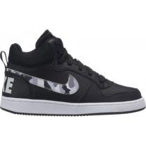 Nike COURT BOROUGH MID (GS) čierna 5.5Y - Detská obuv