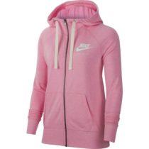 Nike NSW GYM VNTG HOODIE FZ ružová M - Dámska mikina