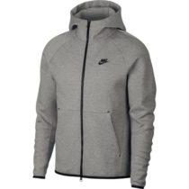 Nike NSW TCH FLC HOODIE FZ šedá L - Pánska mikina