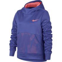 Nike NK THERMA HOODIE PO ENERGY fialová M - Dievčenská športová mikina