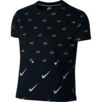 Nike NSW TOP SS METALLIC čierna S - Dámske tričko