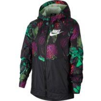 Nike NSW WR JKT HD AOP1 čierna L - Dievčenská  bunda