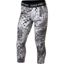 Nike NP CAPRI AOP1 šedá L - Dievčenské športové legíny